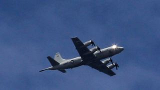 An American surveillance plane was seen flying over Marawi on Friday