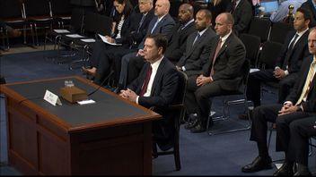 Former FBI DirectorJames Comey appears before Senate Intelligence Committee in US
