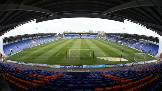 Shrewsbury Town's Greenhous Meadow could be the first English stadium to have a safe standing area