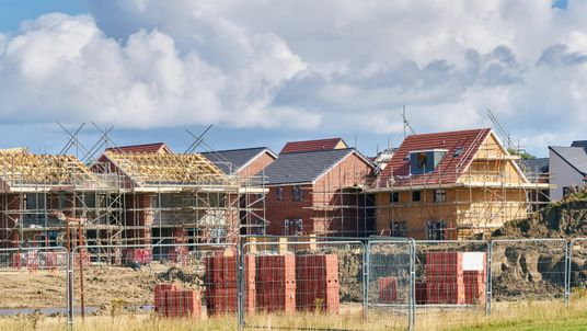 New homes being constructed