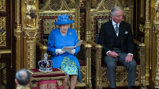 The Queen and Prince Charles, Prince at at the State Opening of Parliament Ceremony