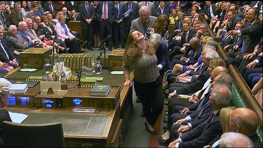 John Bercow was dragged to the Speaker's chair after being re-elected