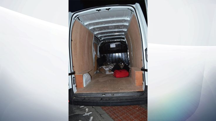 Inside the van used by the London Bridge attackers