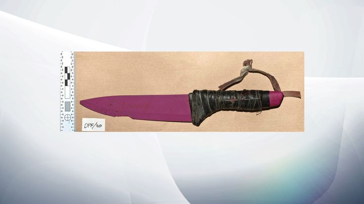 One of the knives used in the London Bridge attacks