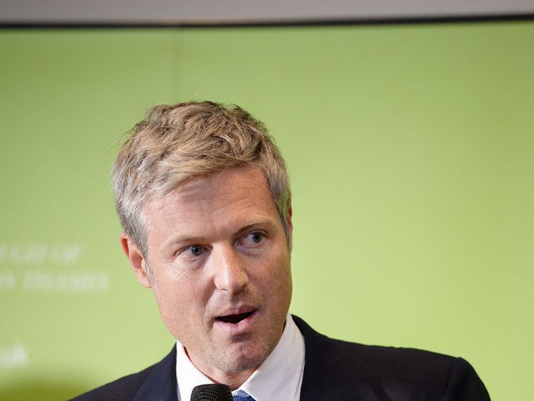 Zac Goldsmith speaks after winning the Richmond Park seat