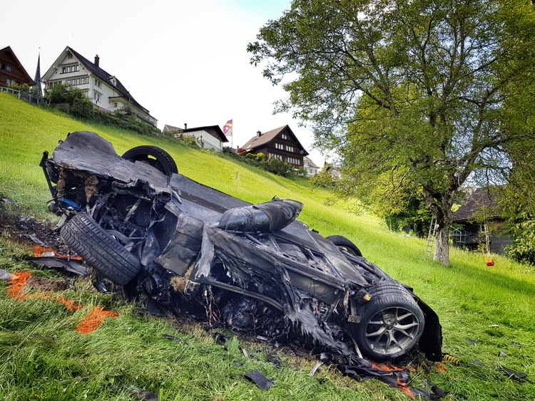 Richard Hammond fractured his knee in the crash