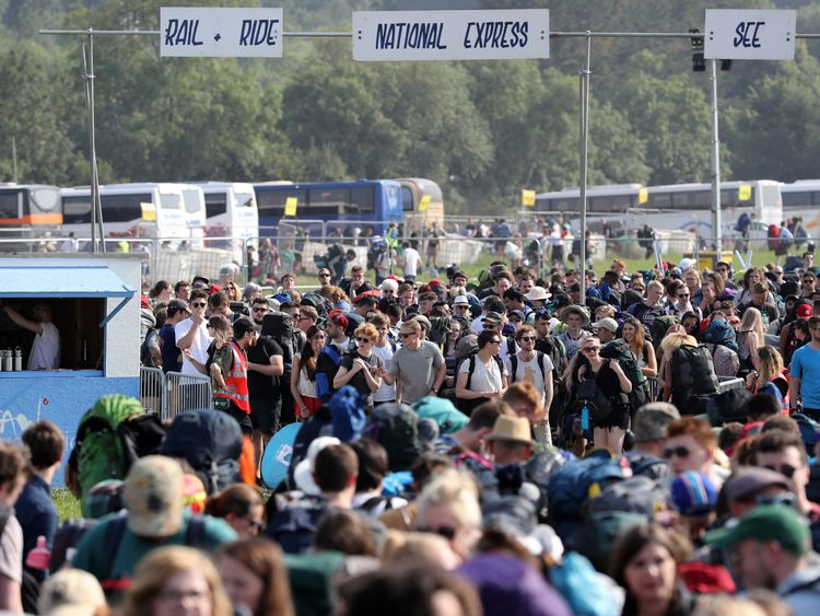 Glastonbury Festival threw open its gates to thousands of revellers