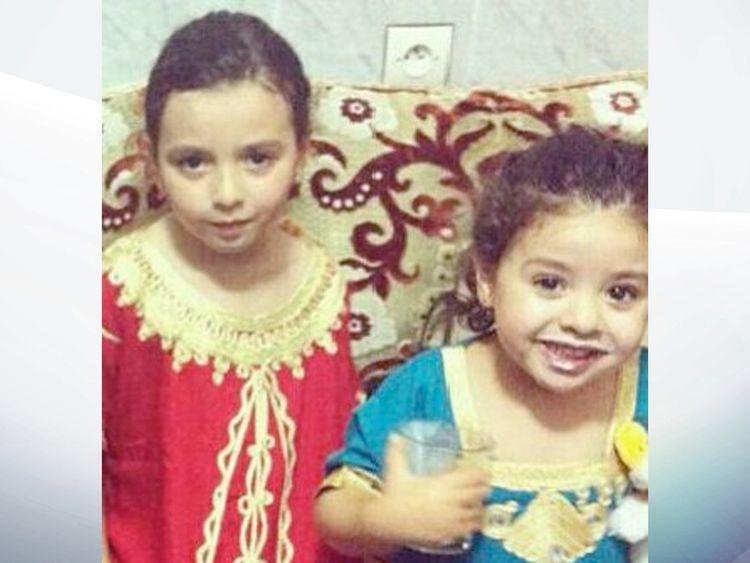 Malek, seven and Tazmin Belkaldi, six,  have been found in hospital