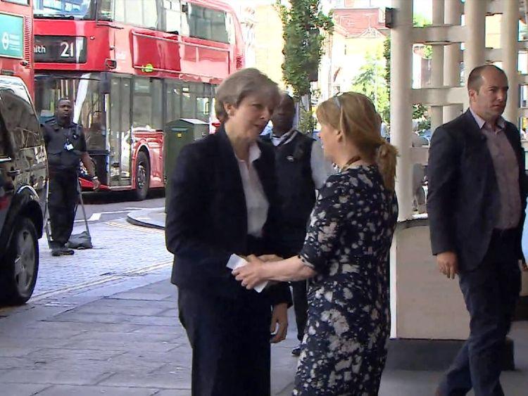 Theresa May visits hospital