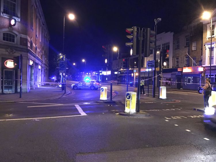 Officers were called at 12.20am to Seven Sisters Road