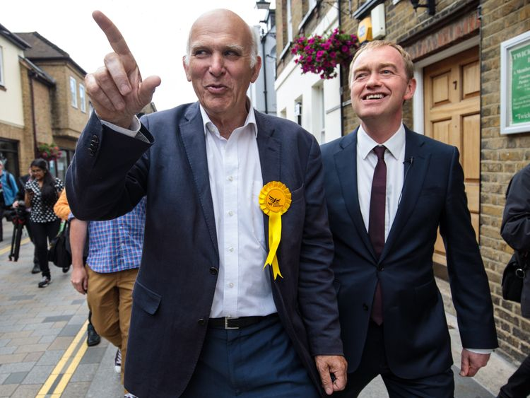 Sir Vince Cable crowned new Liberal Democrat leader