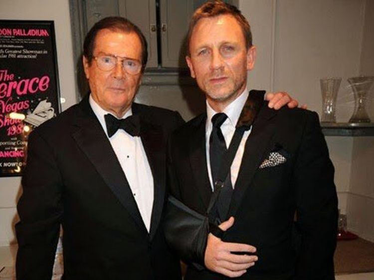 Craig posted a photo of the pair in tuxedos with the caption 'Nobody Does It Better - Daniel'
