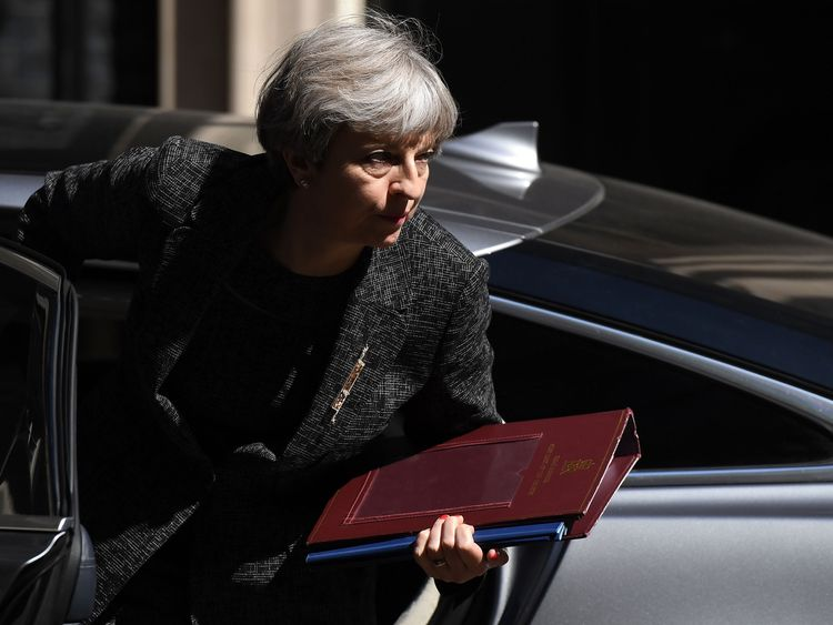 Prime Minister Theresa May returns to 10 Downing Street after visiting the site of the Grenfell Tower fire on June 15, 2017 in London, England. Prime Minister Theresa May is due to hold a series of meetings with the main Northern Ireland political parties today to allay mounting concerns over a government deal with the DUP in the wake of the UK general election.