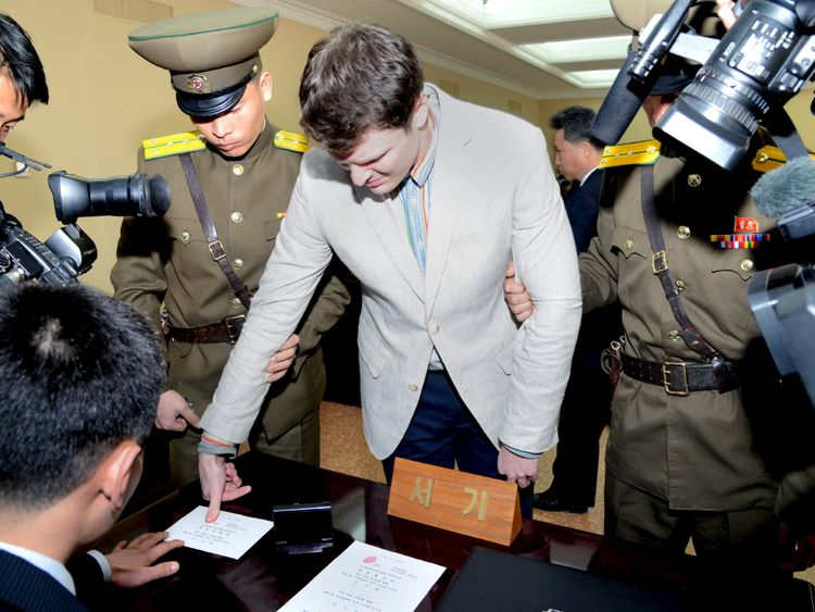 Student released from North Korea has severe neurological injury