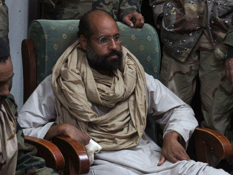 Saif al Islam soon after his capture in November 2011.