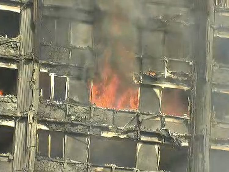 Firefighters were still battling the blaze late on Wednesday afternoon