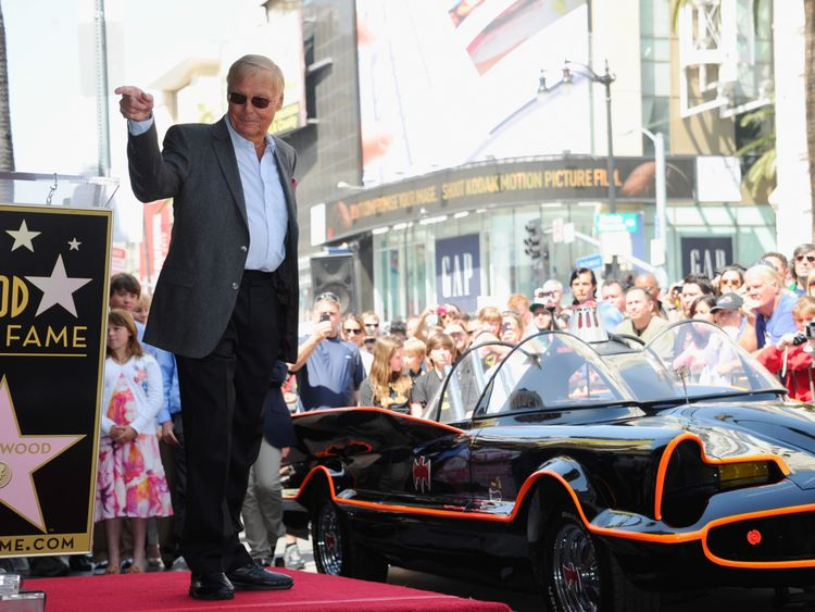 Adam West was awarded the 2,468th star on the Hollywood Walk of Fame in 2012