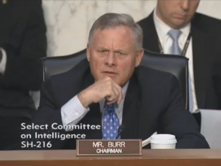 Committee authority Richard Burr asked either Russian hackers targeted the US election