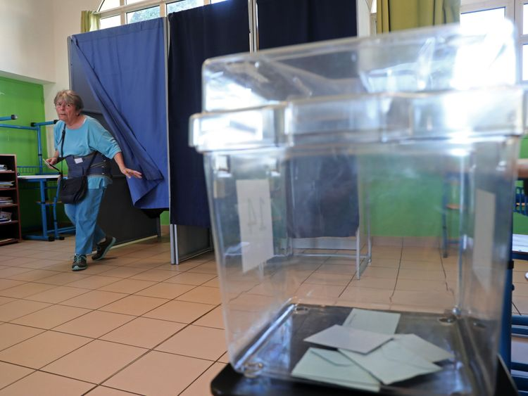 Voter turnout was projected to be 42 per cent - a record low for parliamentary elections