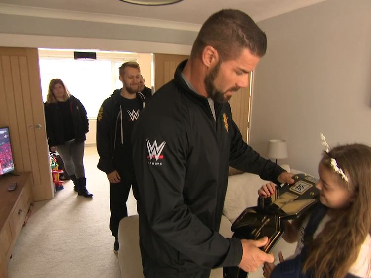 WWE NXT stars delight Manchester Arena attack victim with championship belt