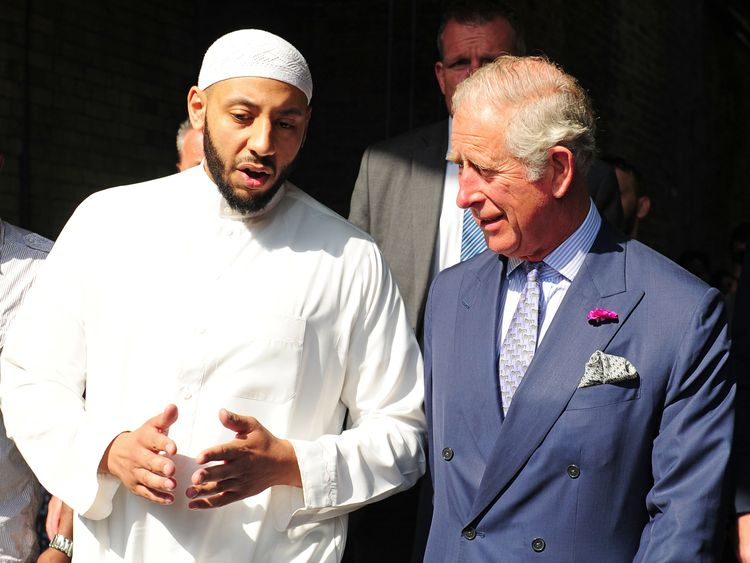 Prince Charles met with faith leaders at the Muslim Welfare House in north London