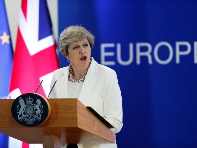 Theresa May details post-Brexit plans for EU citizens in UK