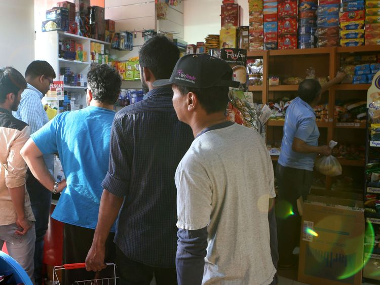 There has been panic buying in Qatari supermarkets after Saudi Arabia closed land borders
