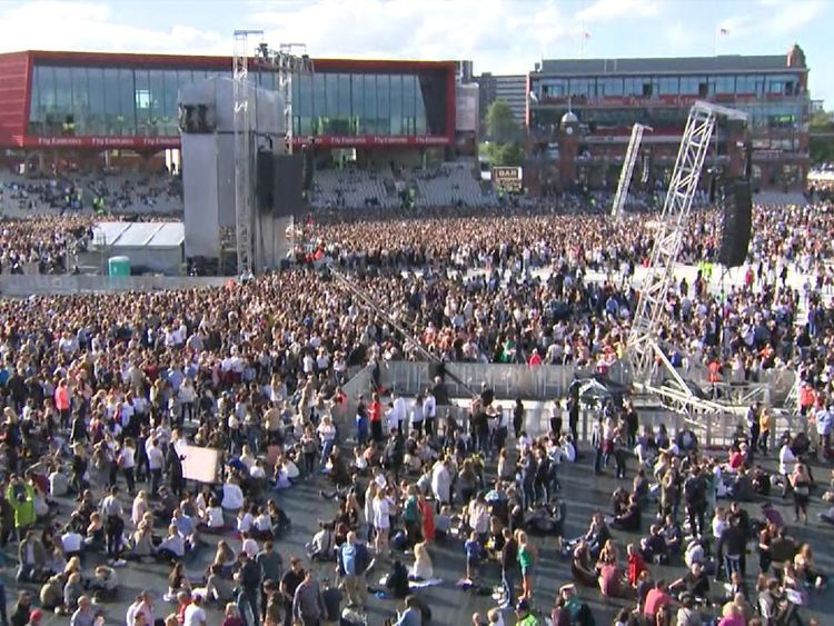 Around 50,000 are expected to attend the concert