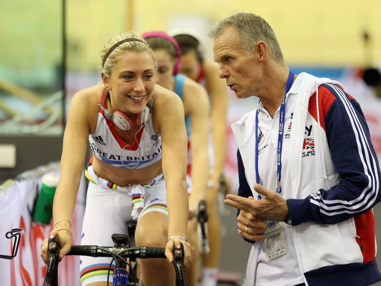 Shane Sutton with Laura Kenny on 2012