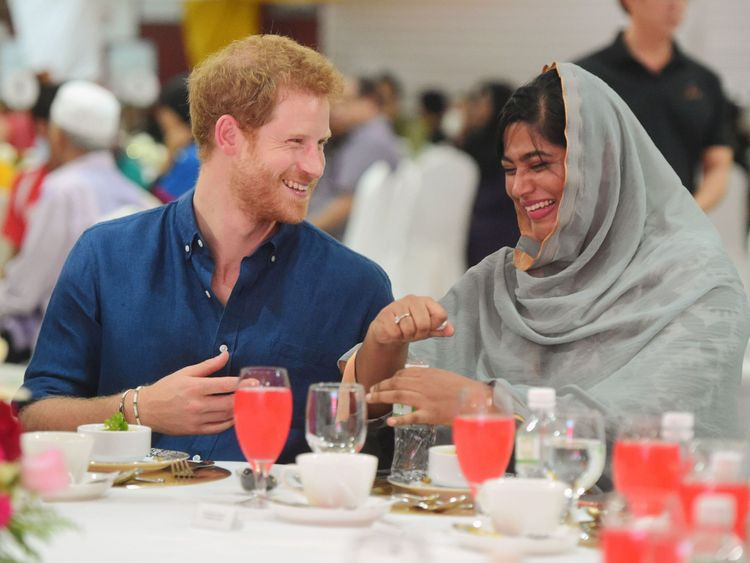 Prince Harry visits a children's home in Singapore