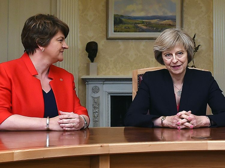 Senior Tories have expressed concern about a pact with the DUP and Arlene Foster. File pic