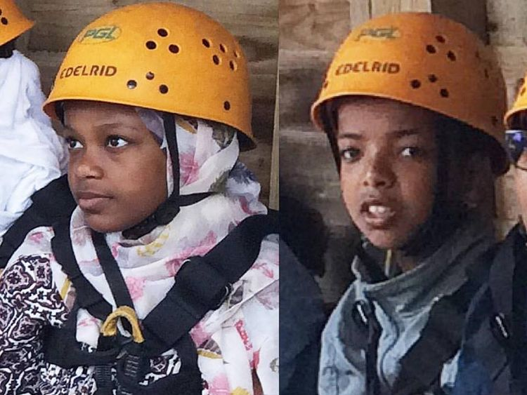 Siblings 12-year-old Firdaws and her brother 14-year-old Yahya Hashim