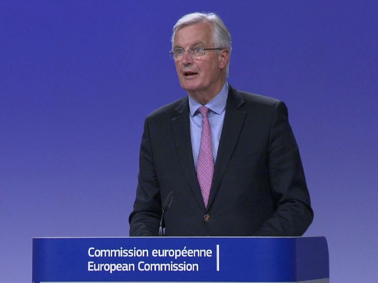 Michel Barnier at the Brexit negotiations talks