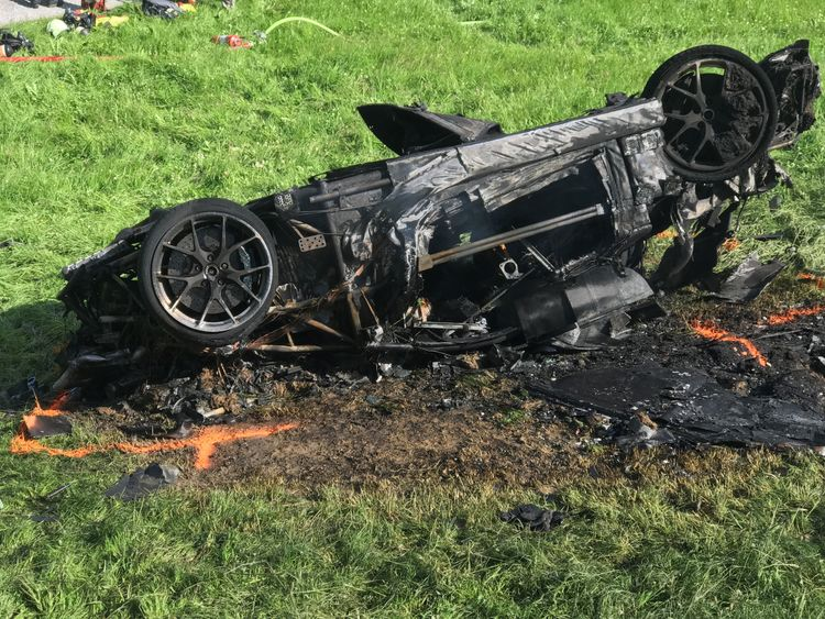 Richard Hammond suffered a fractured knee in the crash