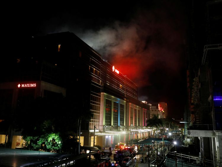 Smoke billows from the Resorts World building in Pasay City, Metro Manila, Philippines June 2, 2017