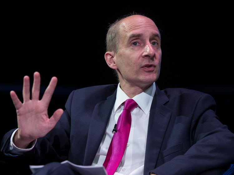 Lord Adonis delivers a speech at the 'Policy Network Conference' held in the Science Museum on July 3, 2014 in London, England.