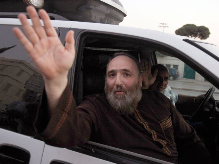 Islamist preacher Omar Bakri Mohammed leaving court in Beirut in 2010 after being released on bail pending a retrial over terror charges