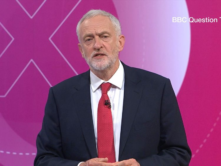 Jeremy Corbyn on Question Time