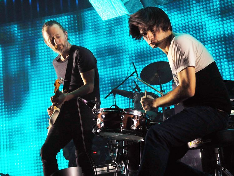 The band's guitarist Jonny Greenwood is married to an Arab-Israeli