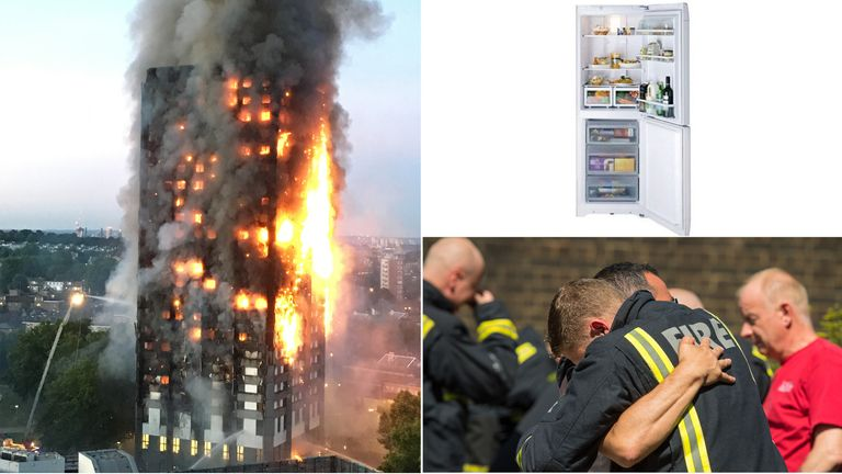 The Grenfell Tower fire started in a Hotpoint fridge-freezer