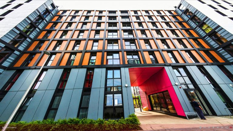 Edinburgh's Napier University student accommodation is among those buildings that will have to have cladding removed