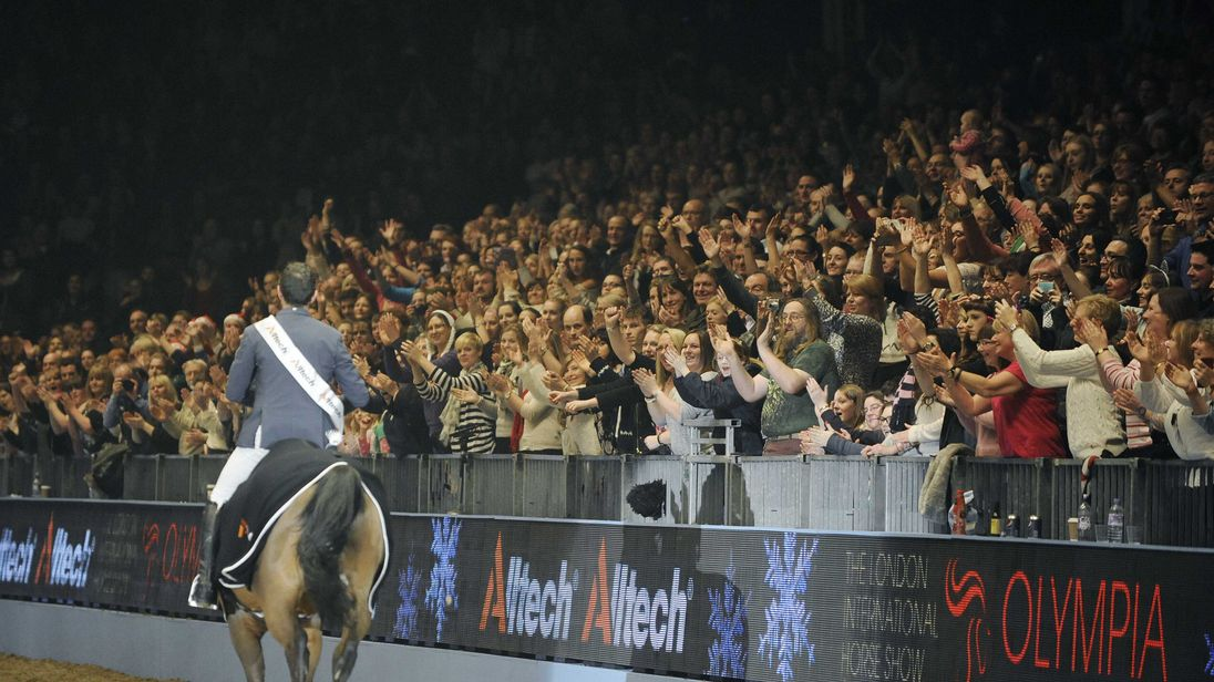 The London International Horse show at Olympia Exhibition Centre on December 19, 2013