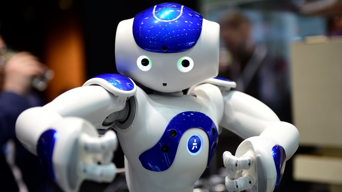 The robot 'Nao' performs Tai Chi at the IBM stand at the CeBIT 2017 Technology Trade Fair on March 20, 2017 in Hanover, Germany