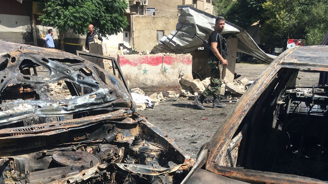 Casualties reported in Damascus bombing