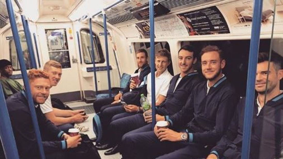 England players catch tube to The Oval