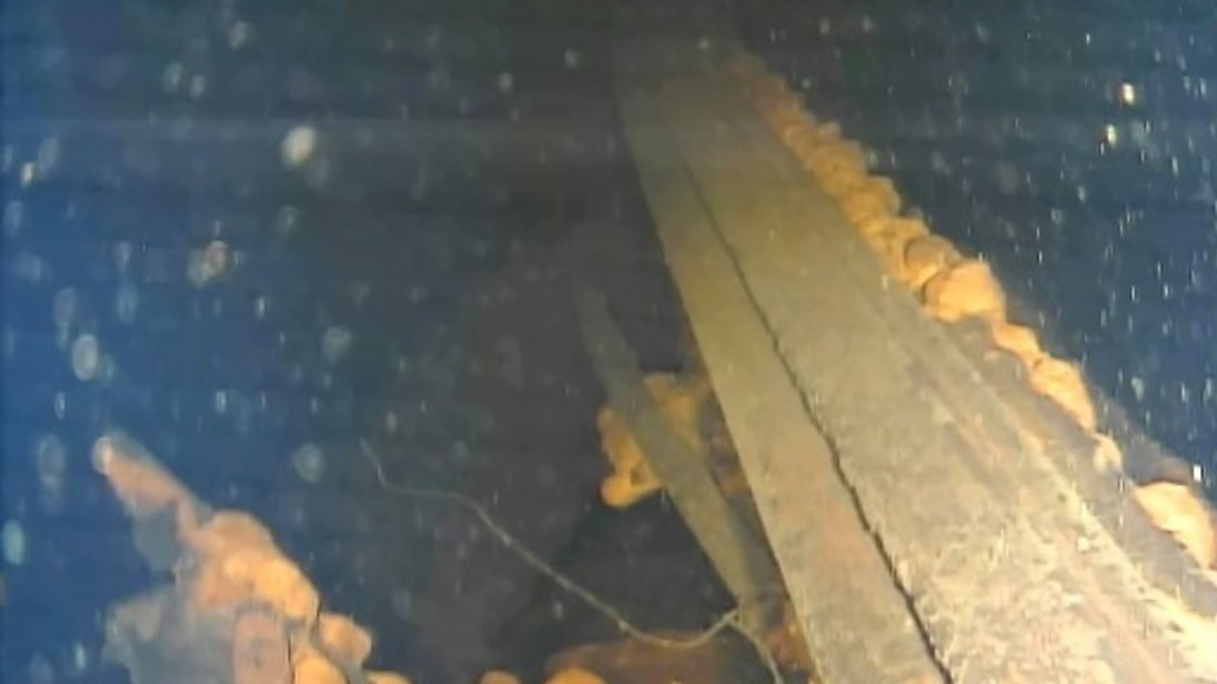 Solidified lumps of potential nuclear fuel were found inside a reactor. Pic: IRIND