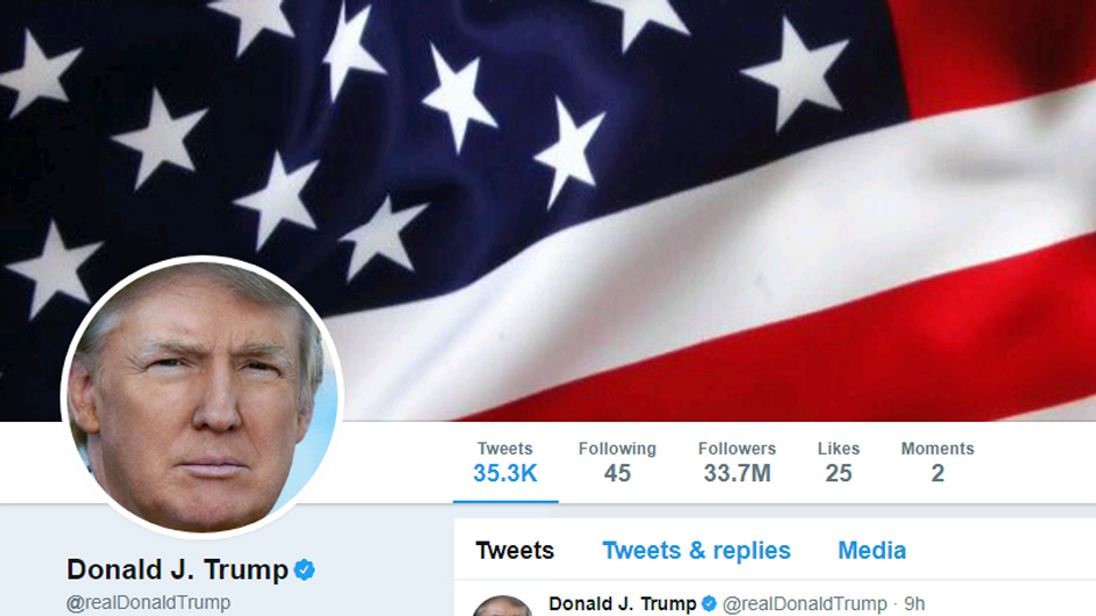 Trump Twitter page