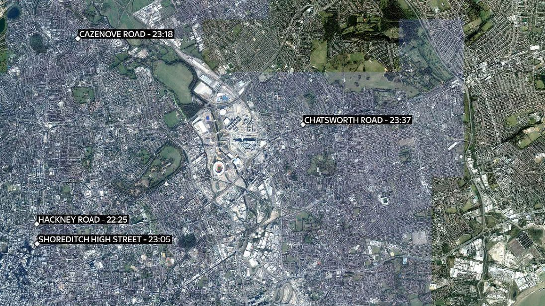 London acid attacks: Police investigate four 'linked' incidents
