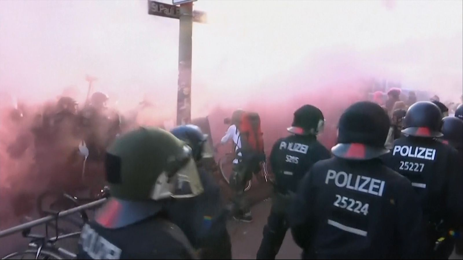 Police move to exert control as protests mount in Hamburg ahead of G20 talks