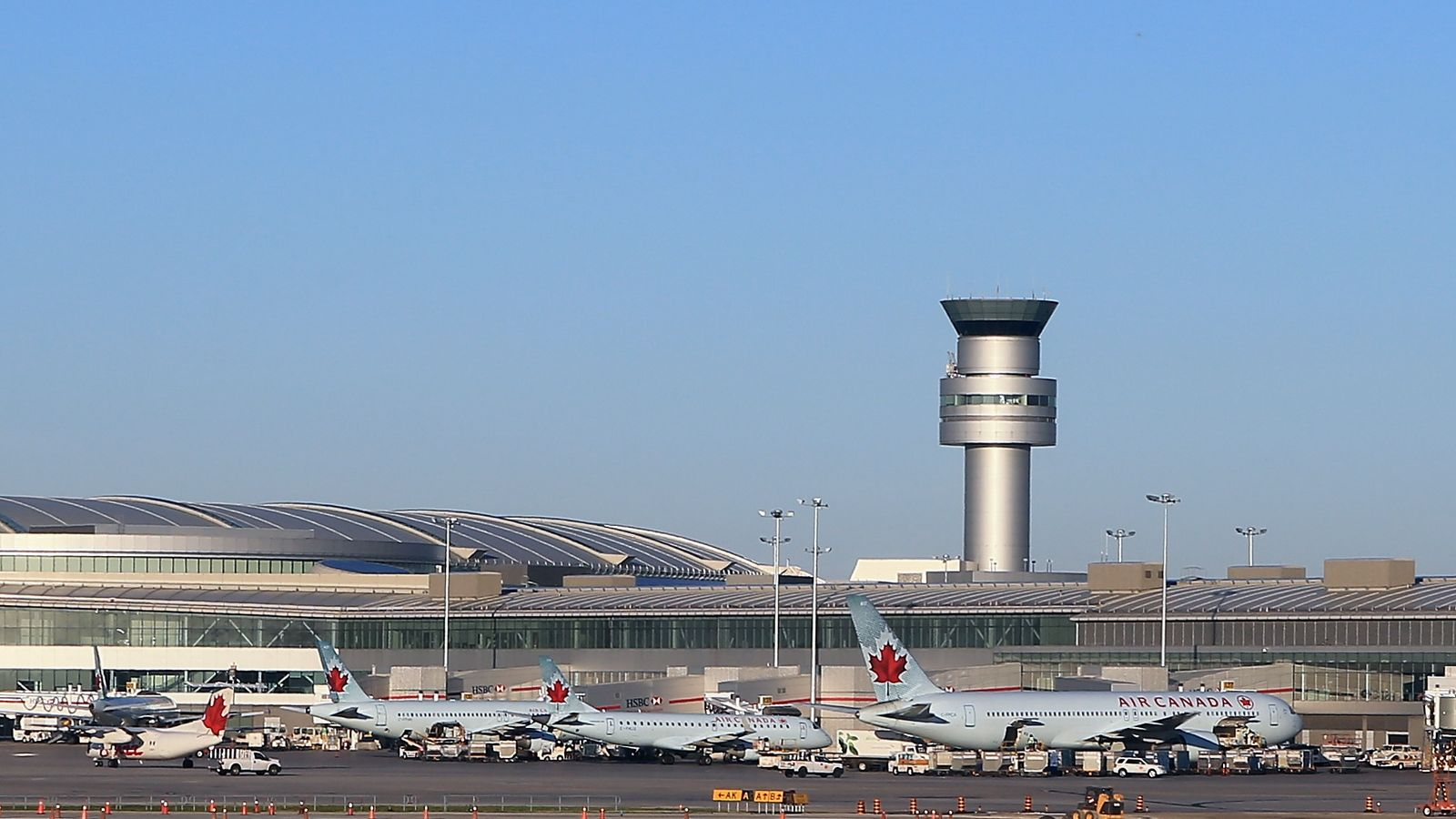 The Air Canada flight was carrying 140 people. File pic
